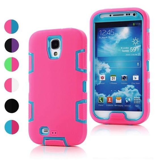 Dual-Tone robot shock absorption silicone defender case for Samsung Galaxy S4