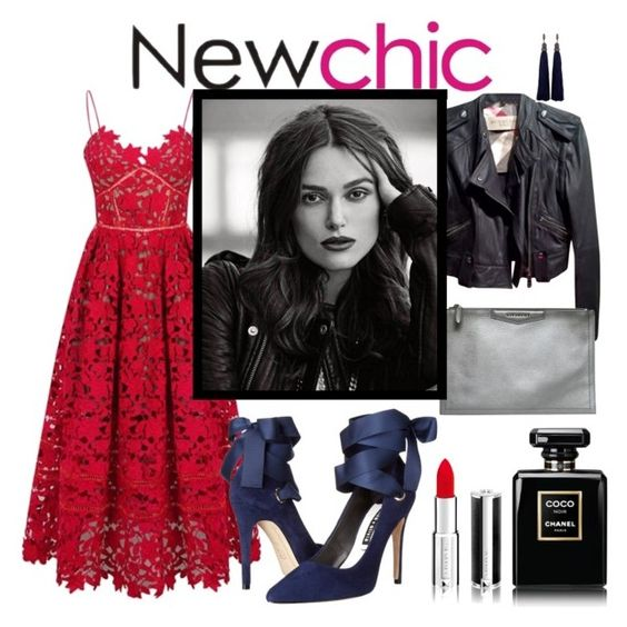 """""""red dress"""" by live-ska ❤ liked on Polyvore featuring Burberry, Alice + Olivia, Lanvin, Givenchy and Chanel"""