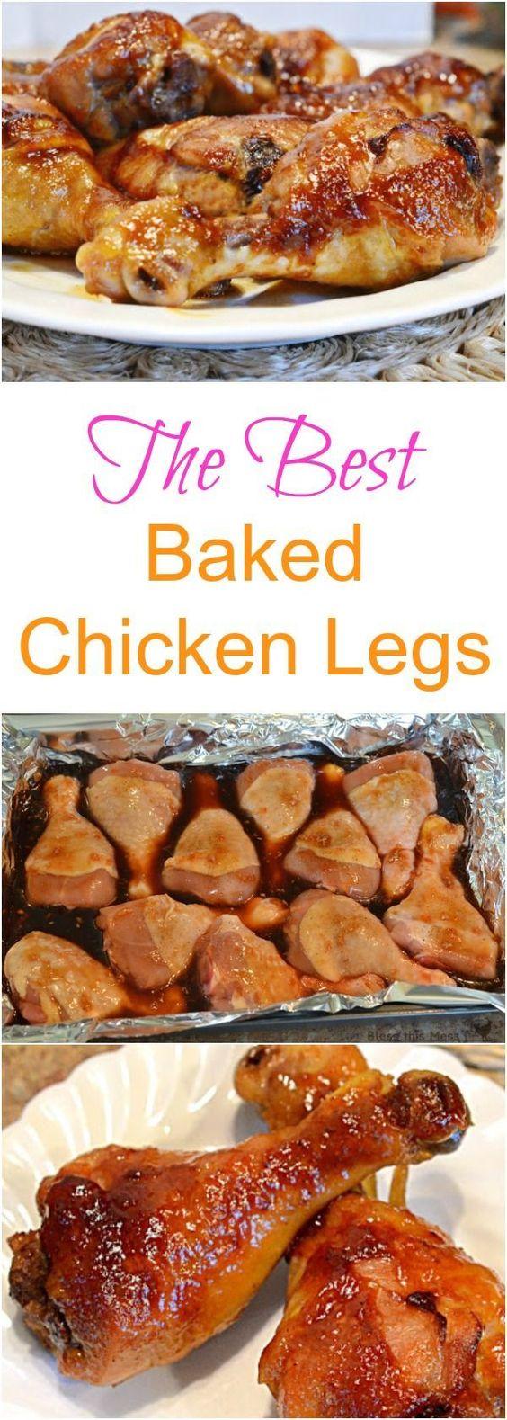The Best Baked Chicken Legs | Recipe | Chicken Legs, Chicken Leg ...