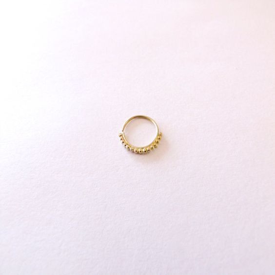 Indian nose ring by StudioMeme on Etsy