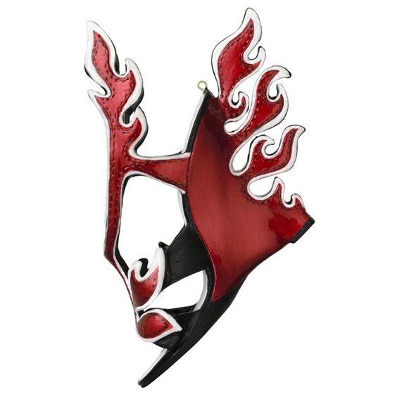 Prada flame shoe ornament