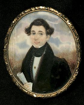 Front and verso images of Abraham Parsell (1791-1856), attributed, Portrait of an Unknown Gentleman, ca. 1835.