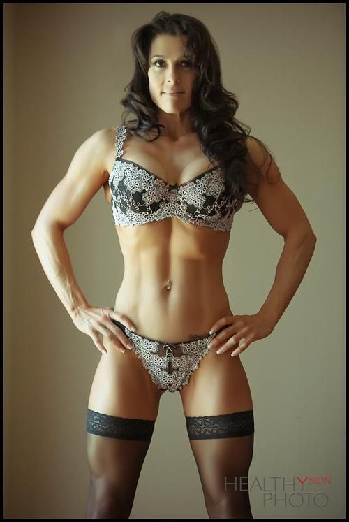 Bodybuilder Women In Lingerie 9