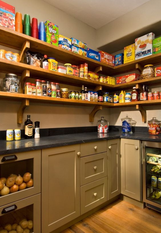 No cheap wire shelves, cabinets for small appliances