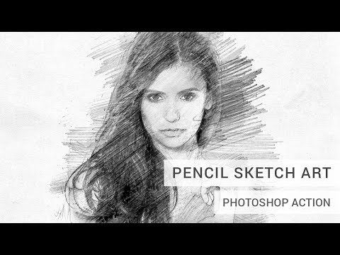 Pencil Sketch Art Photoshop Action Photoshop Actions Photoshop