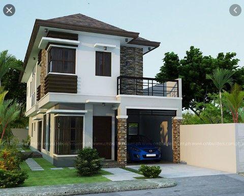 Simple Up And Down House Design Eksterior Rumah Modern Desain Rumah Rumah Modern