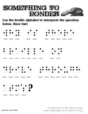 braille alphabet activity special education worksheets by Jenny ...