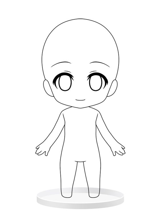 Chibi Girl Base Drawing Pinterest Chibi So Cute And
