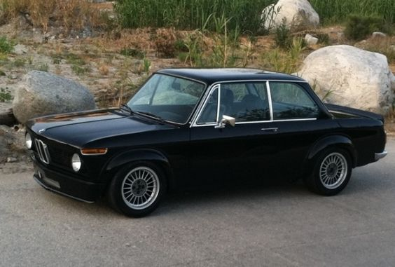 1974 bmw 2002 tii black turbo hot rod for sale. Black Bedroom Furniture Sets. Home Design Ideas