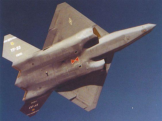 Not a usual view for the Northrop Grumman YF-23 Black Widow II | Airplanes!! | Pinterest | Black ...