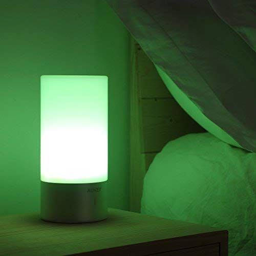 Aukey Table Lamp Touch Sensor Bedside Lamps Dimmable Warm White Light Color Changing Rgb For Bedrooms Www Homedecortips Onli Bedside Lamp Touch Lamp Lamp