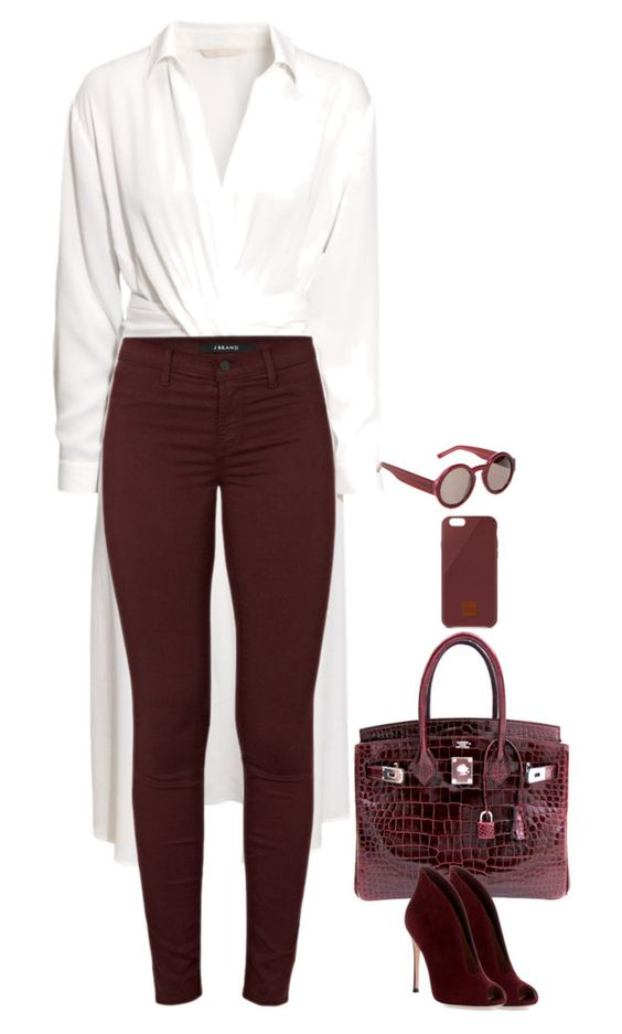 """""""Untitled #4692"""" by miki006 ❤ liked on Polyvore featuring H&M, Hermès, J Brand, Marni, Gianvito Rossi and Native Union"""