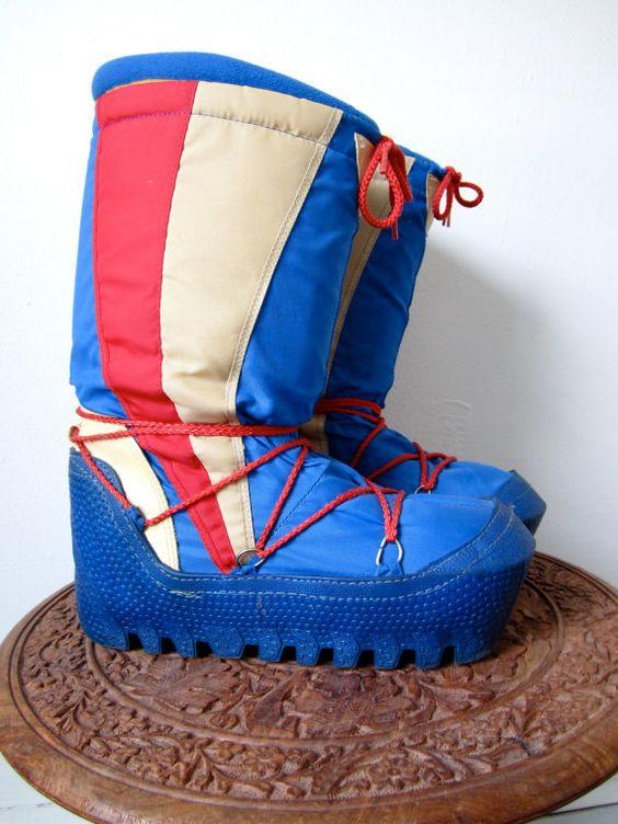 Moon Boots Winter Retro Snow Shoes - Mens 8 - 11 Womens 10 - 13 ...
