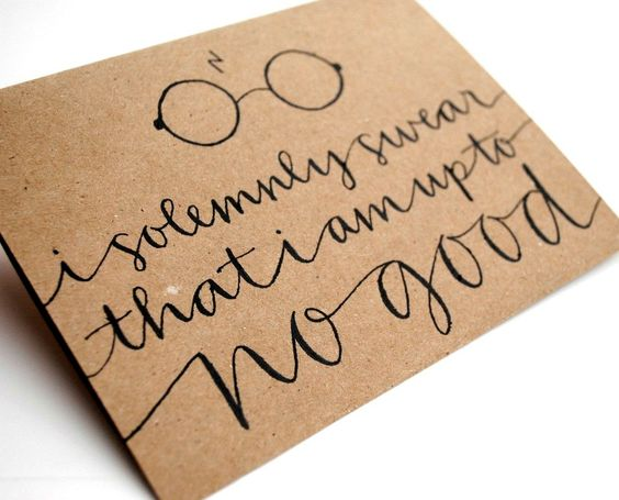 #HarryPotter Greeting Card with Handwritten Calligraphy. I LOVE THIS!
