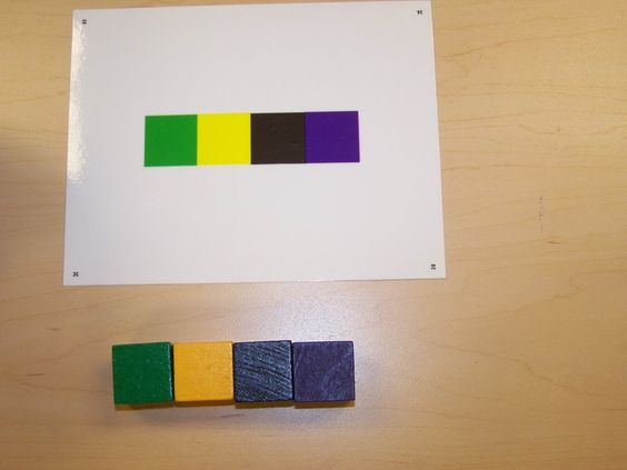 color cubes and pattern cards