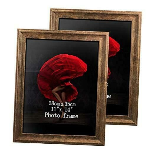 11 X 14 Poster Picture Frames Set Of 2 Vintage Brown Wood Rustic Art 14x11 Photo In 2020 Rustic Art Picture Frame Sets Poster Pictures