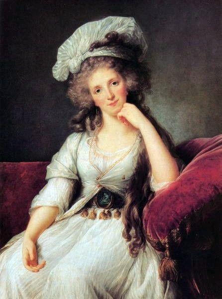 Vigee Lebrun Louise Marie Adelaide de Bourbon in a robe a la turque1789