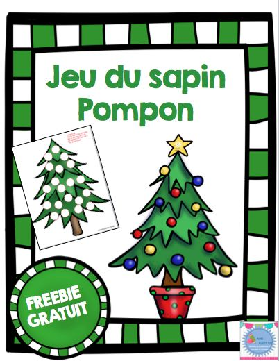 freebie jeu du sapin pompon no l christmas pinterest html. Black Bedroom Furniture Sets. Home Design Ideas