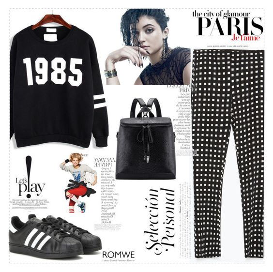 """""""Cool Tomboy"""" by romwe ❤ liked on Polyvore featuring Zara, H&M, By Terry, adidas and Chanel"""
