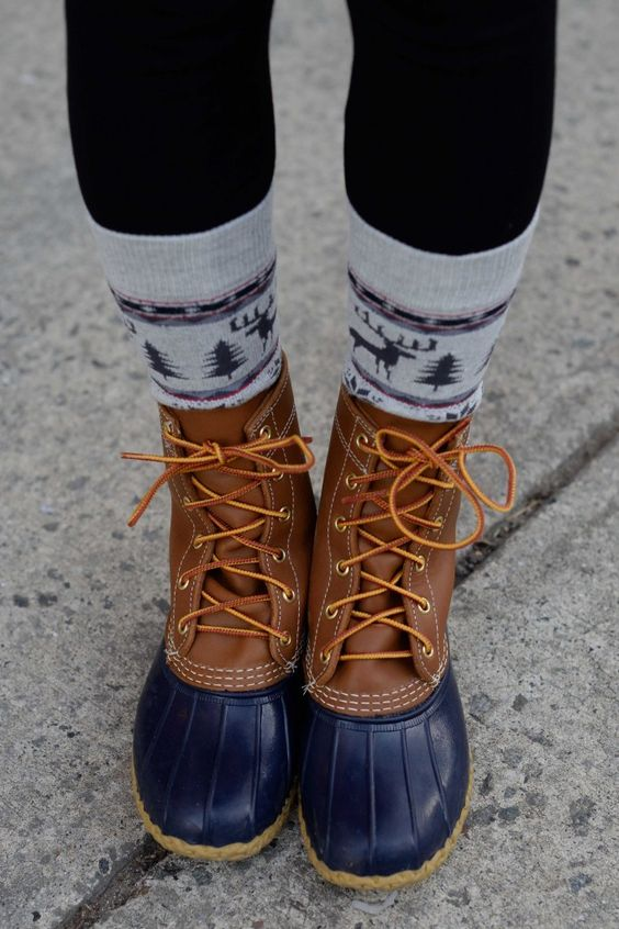 bean boots  beans and sock on pinterest