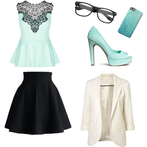 Blue by ariannamarie01 on Polyvore featuring polyvore, fashion, style, City Chic, Chicwish and H&M