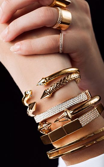 Vita Fede. Bracelet. Ring. Gold. Fashion.