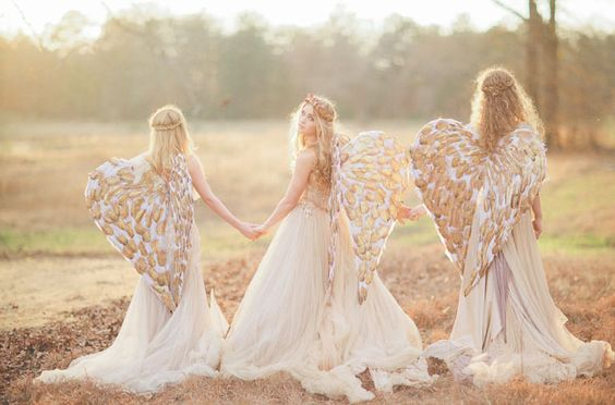 Love this session!  Angel Inspired Wedding
