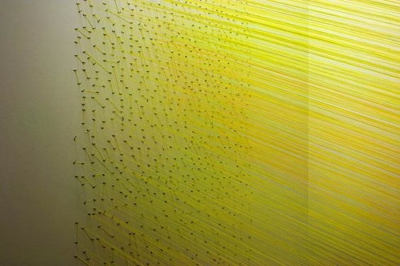 Anne Lindberg string installation colors