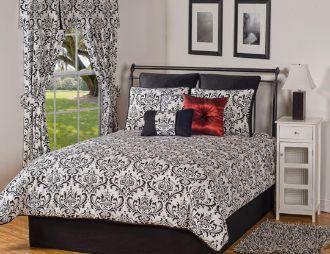 Astor Black and White Comforter/Duvet Cover