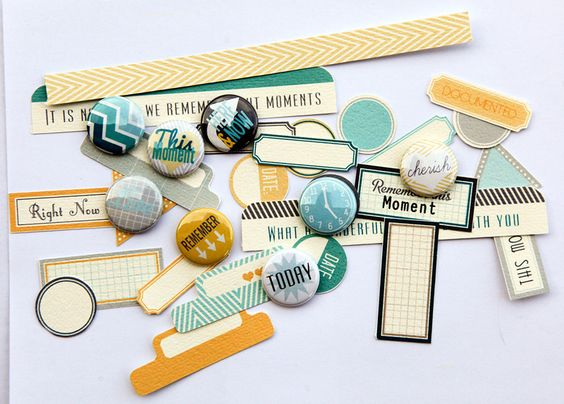 KEUUUTE mini embellies from Ursula Schneider- love the chevron and colors here!