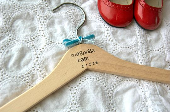sweet personalized hangers for a baby gift