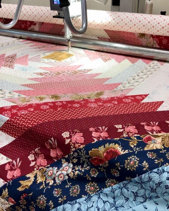 Laundry Basket Quilts On Instagram Final Stitches On Our Flower