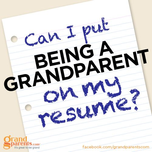 Grandparents, Best Jobs And Resume On Pinterest