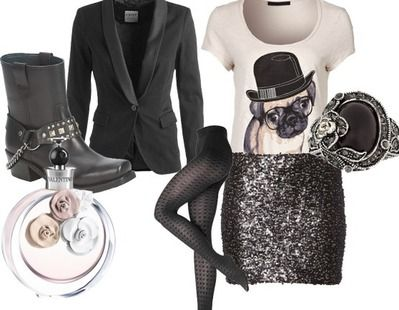 Partyoutfit glam rock baby
