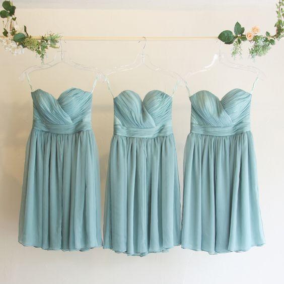 5wayショートドレス・クレープシフォン(フォレストグリーン)ガーデンに映えるグリーンのブライズメイドドレス。  #Bridesmaid #Dress #Green #Wedding