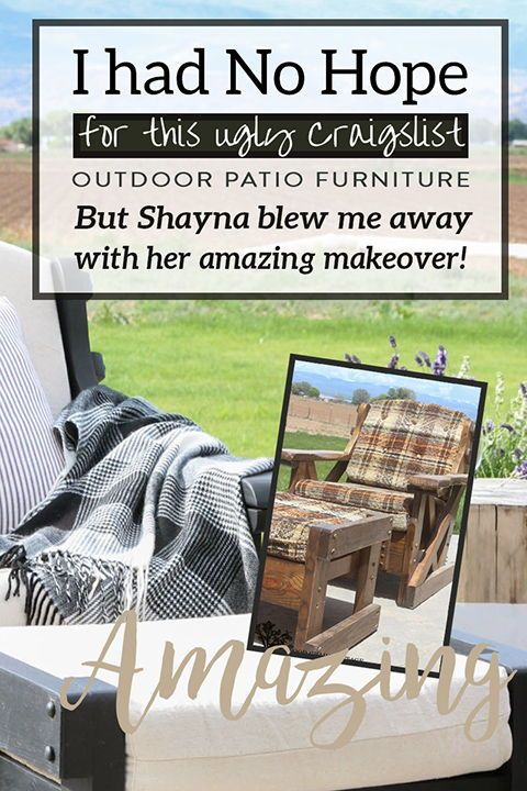 Outdoor Patio Furniture Makeover Patio Furniture Makeover