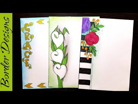 Flowers Border Designs On Paper Border Designs Project Work