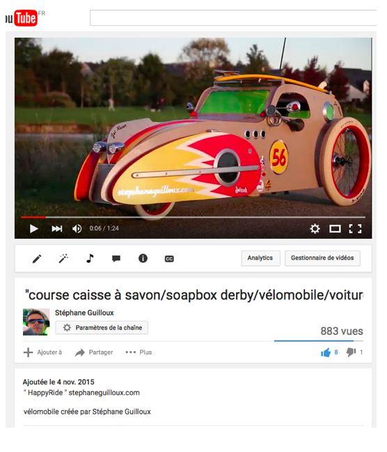 "Vidéo sur YouTube de mon "" HappyRide """