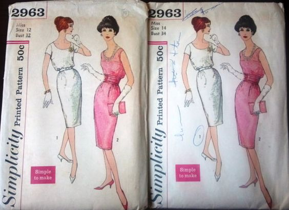 Simplicity 2963 Pattern for Sleek Misses' by VictorianWardrobe, $8.00