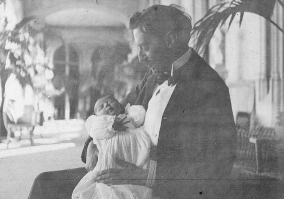 The classic story of a father's love: George #Vanderbilt and Cornelia Vanderbilt. www.biltmore.com #Biltmore: