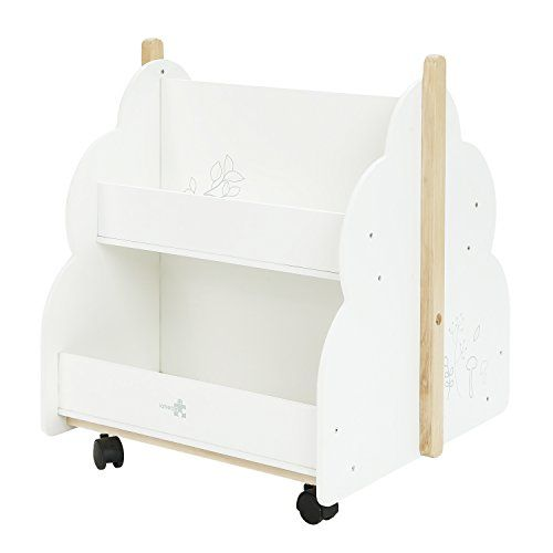 Labebe Kid Bookshelf With Wheels Wood Kid Bookshelf Whi Https Www Amazon Com Dp B0744d5n2w Ref Cm S Bookshelves Kids Toddler Bookshelves Wooden Bookcase