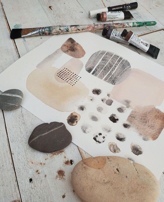 The soothing power of pebbles. Finishing off my bonus lesson for the year-long mixed media art course, Life Book. â € â € #watercolour #watercolor #watercolourmeditation #danielsmith #inkygoodness #artmeditation #meditation #neutrallove #mixedmediaart #minimalart #neutrals #markmaking #natureinspiredart #natureinspiredart #pebbleart #pebbles #creativelife #artistoninstagram #mixedmediaartist #abstractart #artistsofinstagram #abstractartist #abstractpainting #createeveryday #intuitivepainting #...