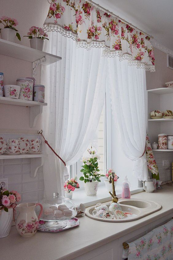 Cute Kitchen Curtain Ideas Bay Window One And Only Interioropedia Com Shabby Chic Kitchen Curtains Chic Kitchen Decor Country Kitchen Curtains