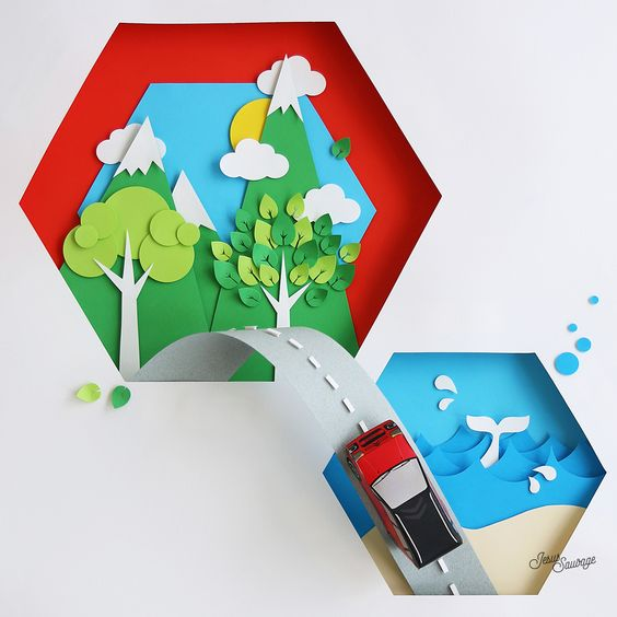 Paper craft ou mon travail pour un joli projet avec Citroën...