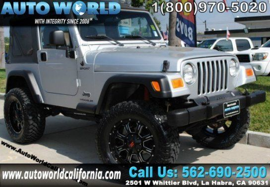 Sport Utility 2003 Jeep Wrangler Sport With 2 Door In La Habra