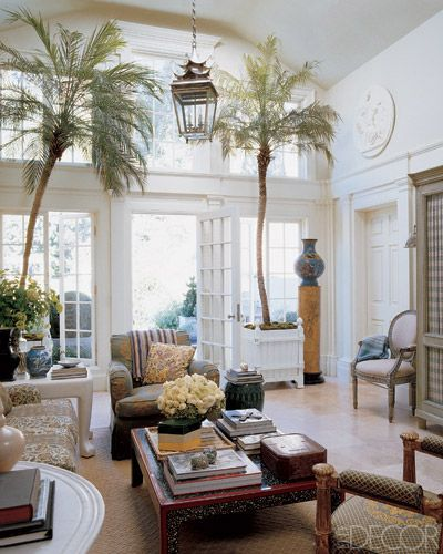 Coastal interiors palm trees in the house for Palm tree living room ideas