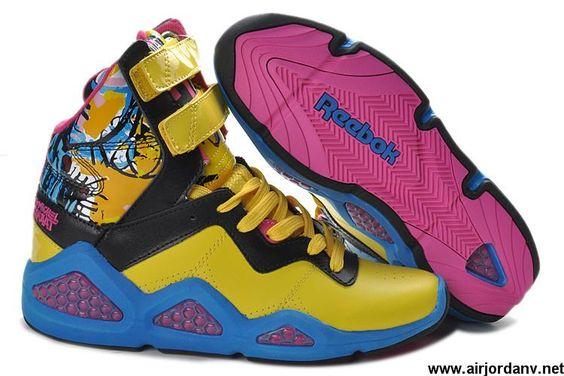 Fashion Womens shoes Yellow Black Pink Reebok CL Chi-Kaze Basquiat Fashion Shoes Store