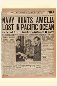 Speculation about shark-infested waters was the top headline in the July 3, 1937, edition of The Baltimore News-Post. (Newseum collection)