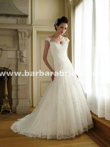 wedding dresses David Tutera Annalisa 111223 Dropped Waist