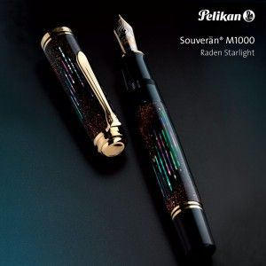 Pelikan M1000 Raden Starlight. It's like holding outer space in your hand!